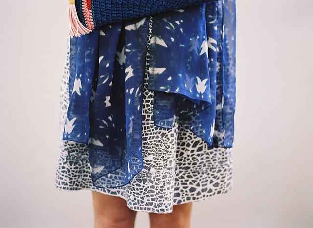 ERMIE Raku Linen Skirt, Ave 51 Chiffon Scarf