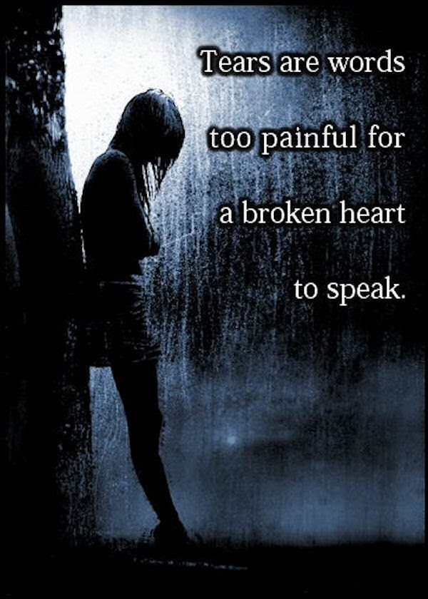 Tears Are Words Too Painful For A Broken Heart To Speak Pictures