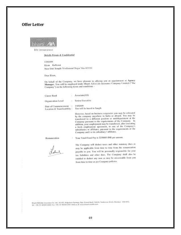 Bharti axa life insurance company