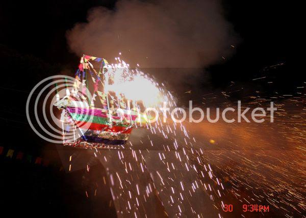 Barco de fogo, Corrida de barcos de fogo em estância