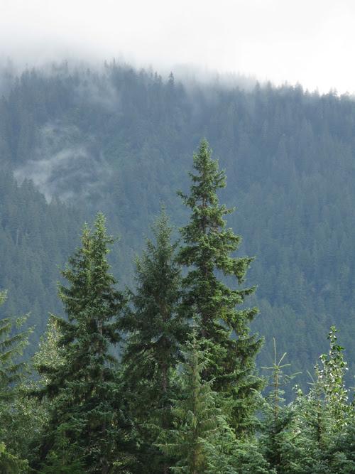 mountain ridge and clouds, Juneau, Alaska