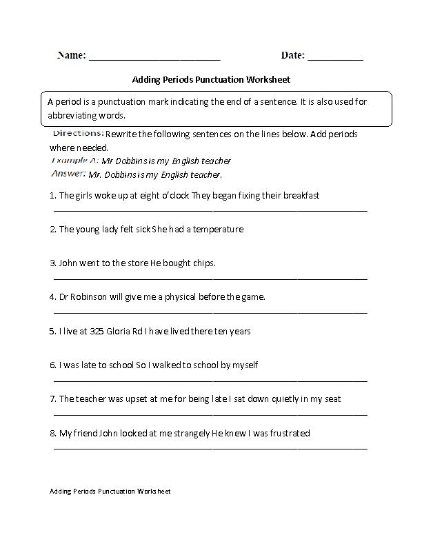Englishlinx Com Punctuation Worksheets