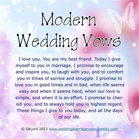 Awesome Wedding Vows   More Modern Wedding & Marriage Vows
