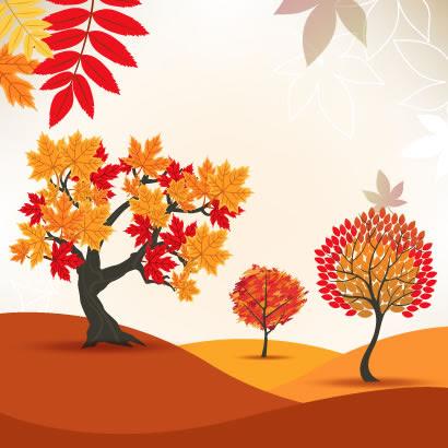 紅葉の木秋の風景のイラストaieps ベクタークラブイラストレーター