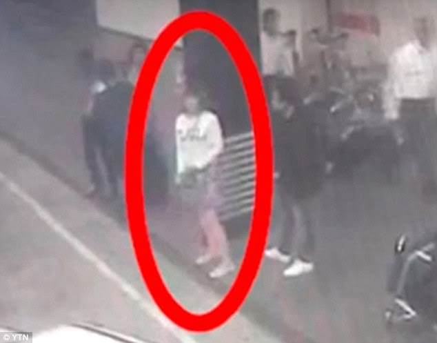 She was then seen hailing a cab outside the airport on CCTV but the Malaysian authorities claim to have since arrested the suspect, who was carrying a Vietnamese passport