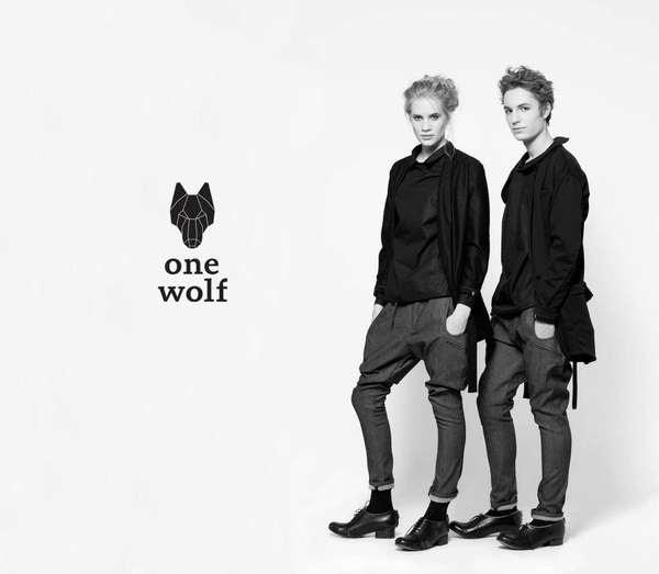 dark unisex collections  one wolf