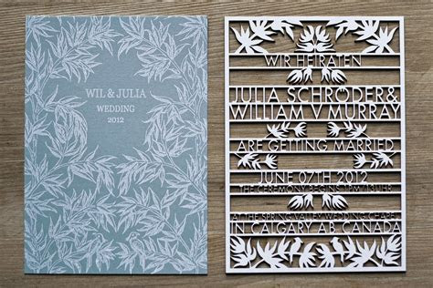 laser cut wedding invitations invitation  high tech