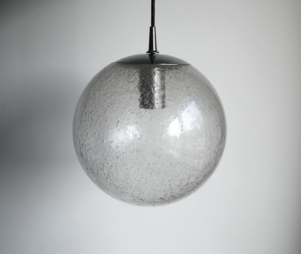 70s Hand Blown Glass Lamp - Glashütte Limburg
