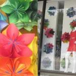 flor orgami loja 150x150 Lembrancinha de rosa de papel para dia das mães