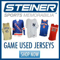 Find authentic game-used jerseys at Steiner Sports!