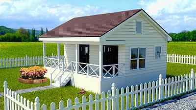 12 x 16 Shed with Porch Pool House  Plans  P81216 Free