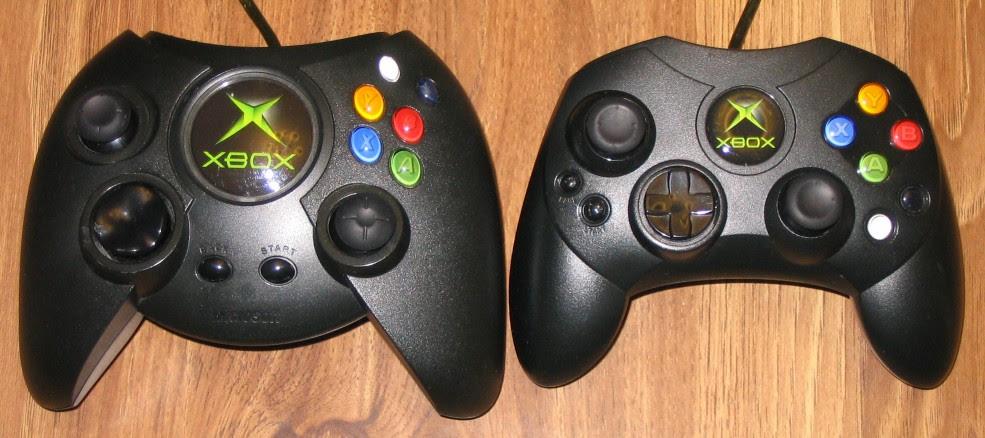 Original Xbox controllers. Source: Wikipedia