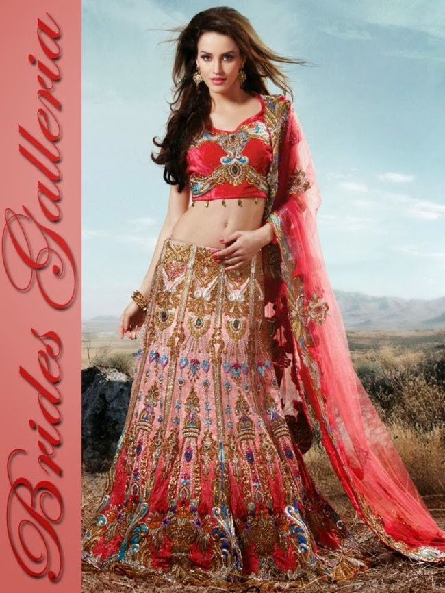 Indian-Bridal-Wedding-Lehangas-Velvet-Embroidered-Blouse-Fish-Cut-Lehenga-by-Brides-Galleria-7