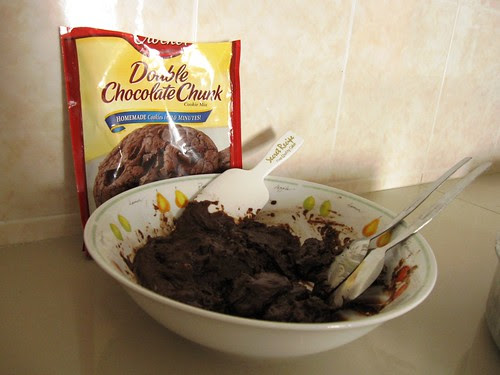 choc chunk cookies dough