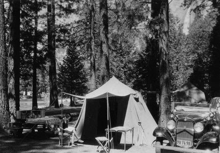 Camping Pictures Black And White