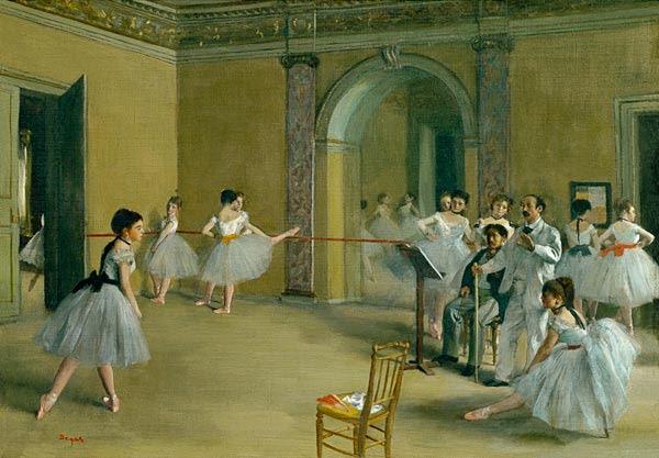 Edgar Degas - Sala de Ballet de la Ópera en la calle Peletier