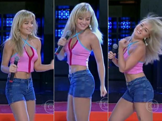 Angfélica arrasa como coleguinha do Caldeirão (Foto: Vídeo Show/TV Globo)