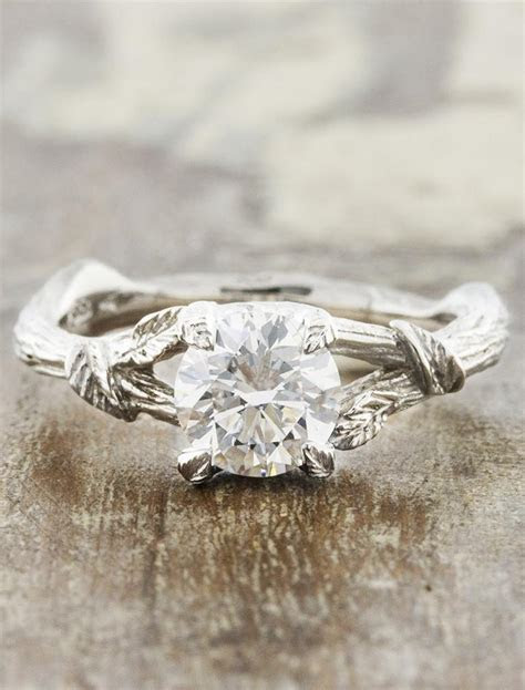 Adelia: Nature Inspired Diamond Engagement Ring   Ken