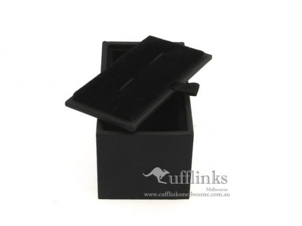 Professional Black Pu Leather Cufflinks Gift Case Box Size 85 X