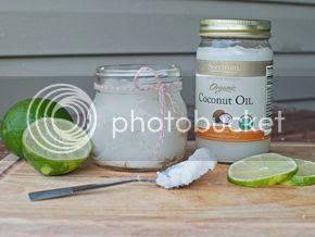 coconut-lime sugar scrub