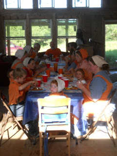 Eating the Orange Day Meal