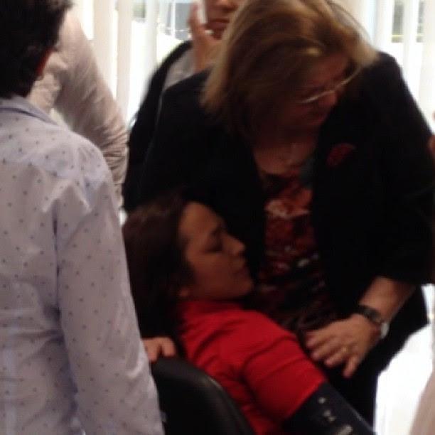 Deputada Cleide Coutinho dando força a amiga Eliziane Gama
