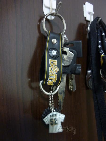 活力熊球衣鑰匙圈