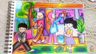 All Clip Of Mewarnai Dengan Crayon Oil Pastel Bhclipcom