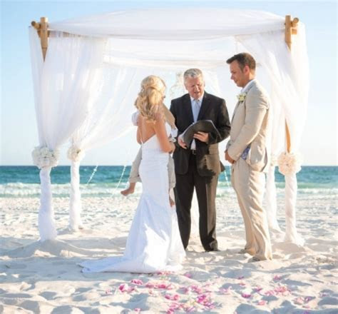 White Panama City Beach Wedding » Panama City Beach