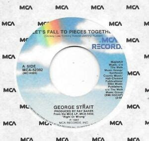 george strait  lets fall  pieces