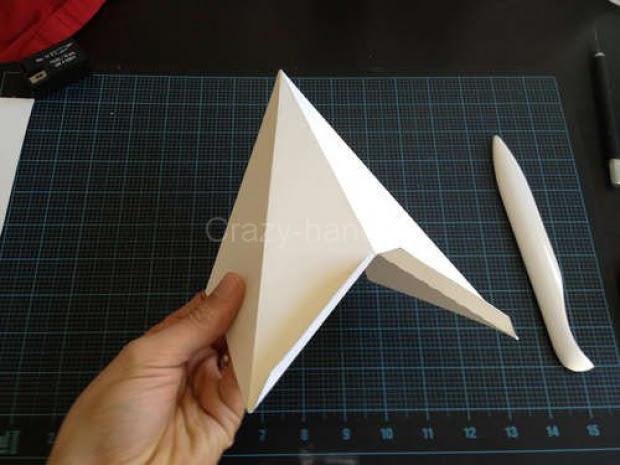 Звезда на ёлку из бумаги. 33266