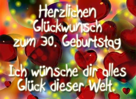 Glückwünsche Dreißigster Geburtstag Zum Geburtstag Wünsche