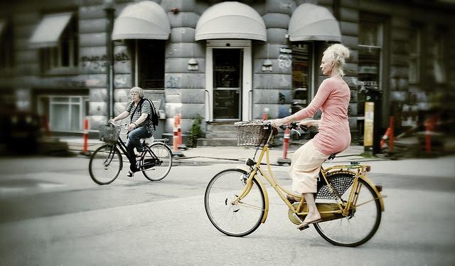 | ♕ | a Lady on a Bike - Copenhagen | by © Marc van Woudenberg