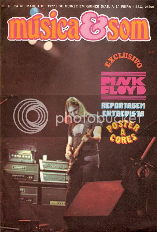 Reprodução da capa do número 4 de Música & Som, datado de 24 de Março de 1977.