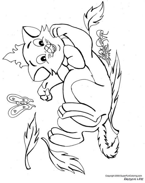 cat  kitten coloring pages coloring home