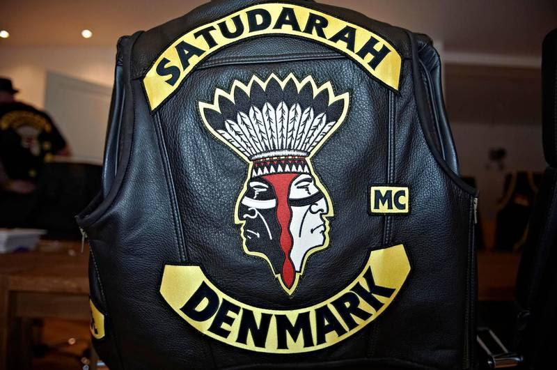 Klubbens rygmærke. Satudarah åbnede første danske afdeling i 2013. Foto: Tariq Mikkel Khan