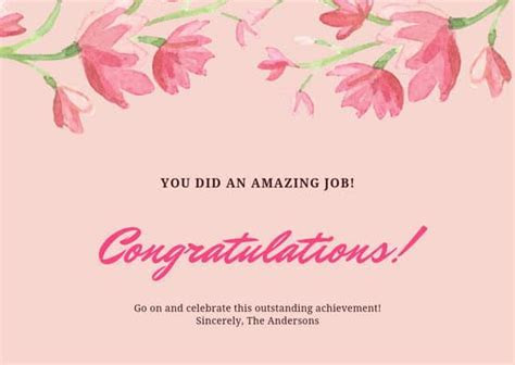Customize 93  Congratulations Card templates online   Canva