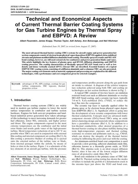 (PDF) Technical and Economical Aspects of Current Thermal