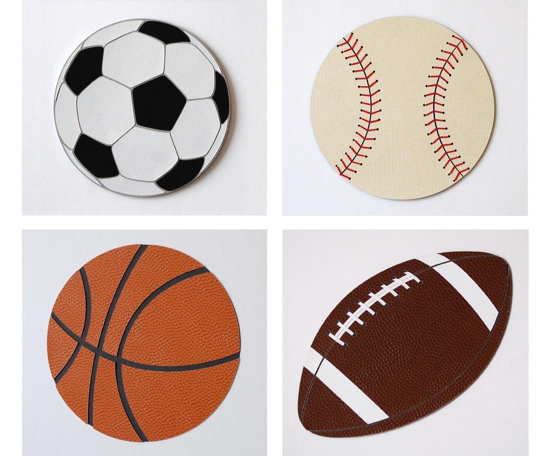Sports Theme Kids Wall Decor Baseball Decor Football by WallDuds