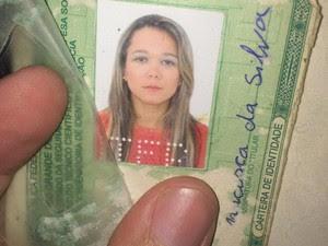 Jacilene Francisca da Silva morreu no local (Foto: Kléber Teixeira/Inter TV Cabugi)