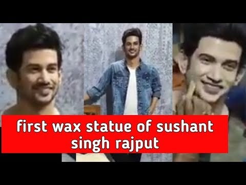 sushant singh rajput first wax statue after his demise made by sushanta ray