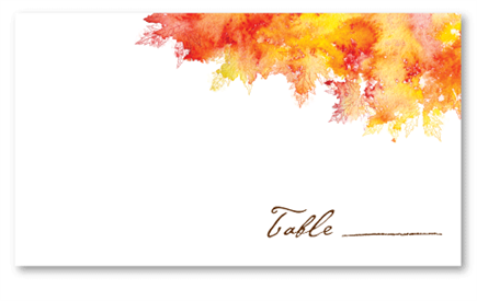 Fall Colors - Place Card