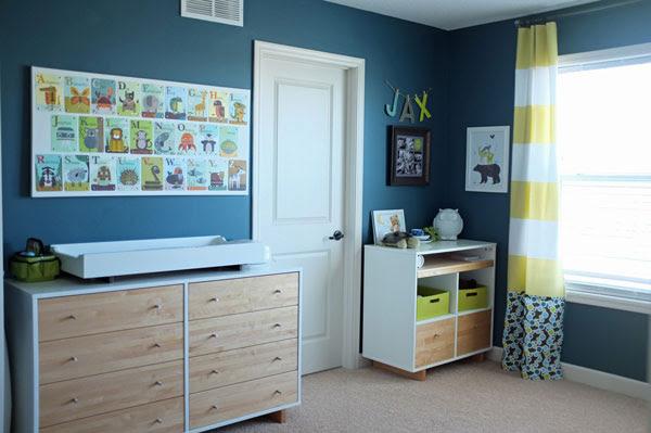 Citron Stripe Nursery Curtains by Jackie Hernandez - Front + Main ...