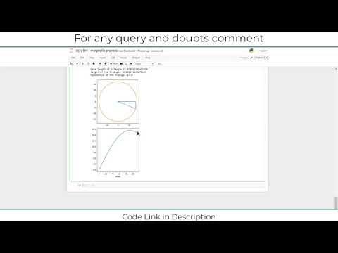 Trignometry Visualisation In Jupyter notebook Python