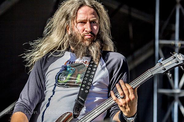 Troy Sanders, bass, Mastodon, Sacramento, Aftershock 2014
