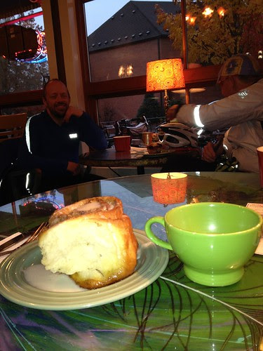 Coffeeneuring #6, sticky bun as big as my head