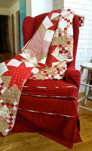 Wonderful Midwinter Red fabric #moda