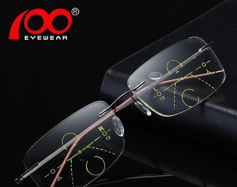 c42a238cc Comprar Homens Óculos De Leitura Com Caso Metal Sem Aro Bifocais Progressiva  Multifocal Lente Baratas Online Preço | blcartel1