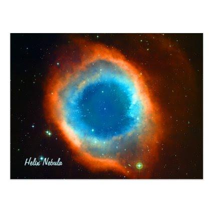 Helix Nebula, Galaxies and Stars Postcard
