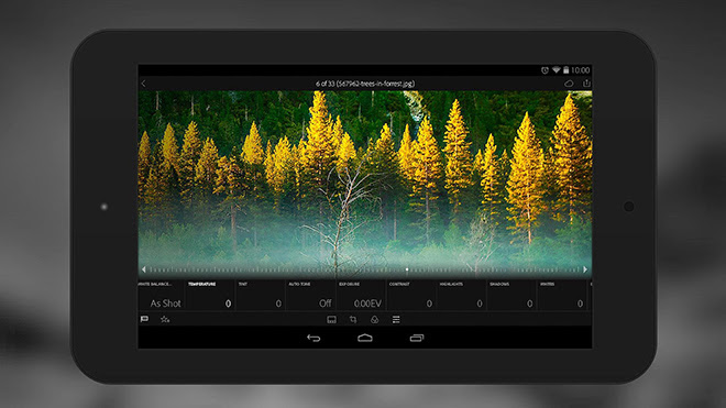 Adobe Lightroom app gets support for DNG raw files, microSD card and tablets